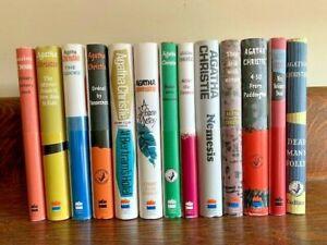 Agatha Christie set of 13 facsimile British 1st ed, 12 w/ belly bands