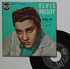 "Vinyle 45T Elvis Presley ""Loving you n°2"" - TRES RARE"
