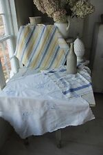 Vintage French Fabric Bundle tablecloth + napkin + ticking project pack