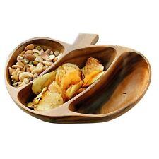Socorro Serving Dish, 3 Section, Acacia Wood