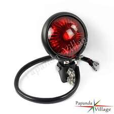 Bates Style Black LED Tail Light For Cafe Racer Bobber Chopper Honda Triumph Hot