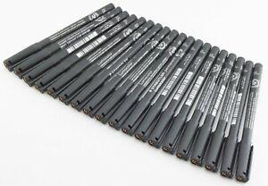 Staedtler Lot of 19 Lumocolor Permanent Markers Black Fine Point 0.6mm