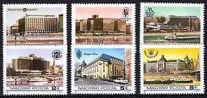 HUNGARY MAGYAR 1984 Budapest Riverside Hotels SET MNH - FREE SHIPPING