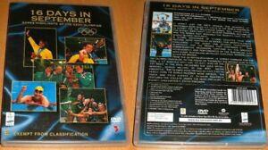 16 DAYS IN SEPTEMBER dvd REGION 0 game highlights of sydney 2000 olympics RARE