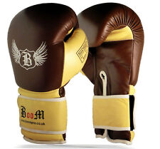 Premium Leather Boxing Gloves MMA Training Punching Mitts Sparring Muay Thai