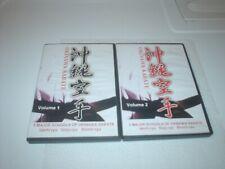Okinawan Karate Dvd s Vol. 1 and Vol. 2 Uech-Ryu Goju-Ryu Shorin-Ryu