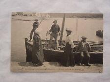 Ancienne carte postale de Plougasnou Tévénez la vente du homards