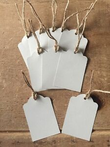 10 Handmade Grey Gift Tags-labels-wedding-name-scalloped edge-large