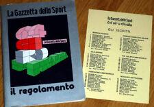 cyclisme - GIRO d'Italia La Gazetta dello Sport - il regolamento 1981 + Liste