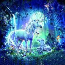 5D DIY Diamond Painting Embroidery Cross Stitch Fantasy Unicorn Picture Decor