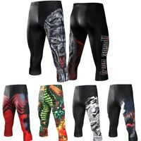 MMA Bjj Spats Mens Compression Grappling Leggings No Gi Jiu Jitsu Base Layer NEW