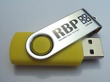 128MB Swivel yellow usb flash drive - 50 piece lot - ships Express from Sydney