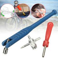 Car Motorbike Bicycle Tyre Valve Stem Puller Core Remover 4 WAY Repair Tool Kit