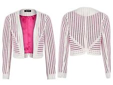 Kaleidoscope Sz 20 Ivory Textured Cropped JACKET Occasion Evening Party New £59