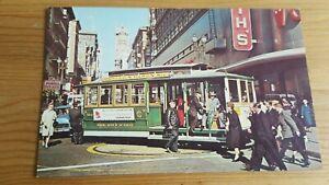 Old Postcard Cable Car Turntable San Francisco 1966 Dexter Press DT-9667-C
