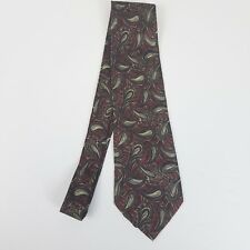 Todays Man Mens Tie Red Gray 100% Silk Classic Length