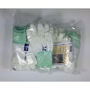 20 Pairs White PU Fingertip ESD Coated Anti-static Antiskid Gloves Non-slip PC