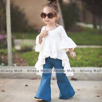 Baby Girls Trumpet Sleeve Dress Princess Clothing Kids Dovetail Skirt Clothes