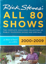 RICK STEVES - ALL 80 SHOWS - 2000 - 2009  - 13 DVD BOX SET - STILL SEALED