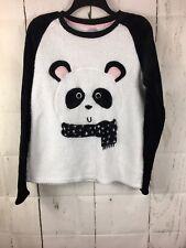 Fuzzy Fleece Panda Shirt Fairy Kei Kawaaii L