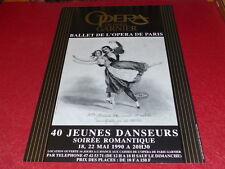 [COLLEC. J.LE BOURHIS DANSE BALLET] AFFICHE OPERA PARIS GARNIER 40 DANSEURS 1990