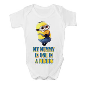 New Cute One In A Minion Funny Baby Vest Grow Despicable Me Top Size Boys Girls
