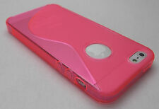 Pink Apple iPhone 5 Soft Rubber Gel Case Cover Skin Shell iPhone5 i phone 5s New