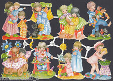 Child Sleep Bedtime Pzb Scrap Paper Vintage Old German Nos Collectible Pj'S Toy