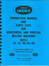 Index Model 745 845 756 760 856 Manual Parts List from factory