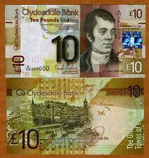 SPECIMEN, Scotland, Clydesdale Bank, 10 pounds,  2009, P-229J UNC > Rare