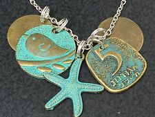 "Beach Sand Bird Starfish Bronze Theme Mix AP Charm Tibetan Silver 18"" Necklace"
