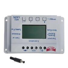 LCD 20/30/40A 12V/24V MPPT Solar Panel Regulator Charge Controller 3 Timer