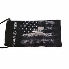 Fearless Paintball Barrel Cover / Sock - American Flag Grunge - Black / White