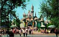 Vtg 1960s Disney Postcard Disneyland Fantasyland Sleeping Beauty Castle Unused