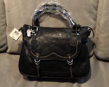 FRYE x ANNA SUI Anna Dutchess Satchel Black Leather Handbag, BRAND NEW, $858