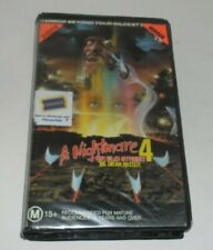 A Nightmare on Elm Street 4 The Dream Master 1988 Freddy Horror Video PAL VHS