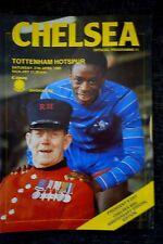 1984/85 Chelsea V Tottenham Hotspur Divisione 1 MATCH PROGRAMME 27.4.1985