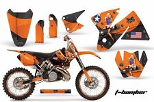 AMR Racing KTM C2/SX/XC/MXC Number Plate Graphic Kit Bike Decals 98-01 TBOMBER O
