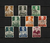 (YYAW 274) Germany 1934 USED Mi 556 - 564 Scott B59 - B67 SEMI Third Reich Nazi