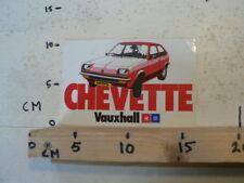 STICKER,DECAL VAUXHALL CHEVETTE RED CAR AUTO GM A