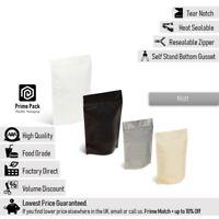 Matt Foil Zip Lock Resealable Bags Stand Up Pouches Food Grade Heat Seal Mylar