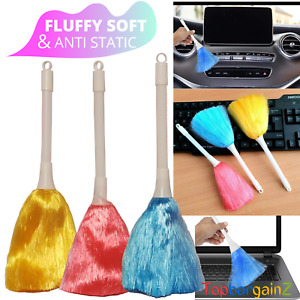 Mini Magic Cleaning Duster Soft Feather Anti Static Dust Cleaner Home Small x 3