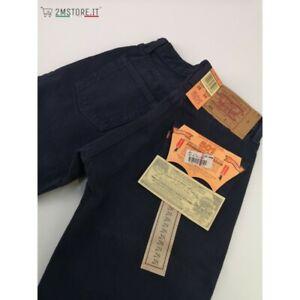 LEVI'S jeans LEVIS 501 Original Fit uomo BLU NOTTE denim old stock Vintage