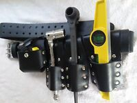 Scaffolding Leather Belt Set with Full Tools - Heavy Duty Black Spanner 19/21