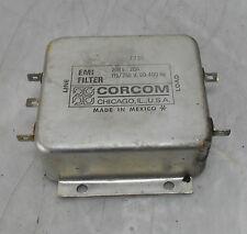 Corcom AC EMI Filter, Type 20R1, 20A, 115/250V, 50-4000Hz, Used, WARRANTY