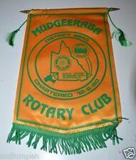 Vintage Mudgeeraba Queensland Australia Rotary International Club Banner Flag
