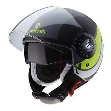 Helm Demi-Jet Caberg Riviera V3 Stabi Matt Anthrazit - Black - Yellow Größe L