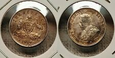 1919-M Australia sterling silver Threepence - toned, high grade