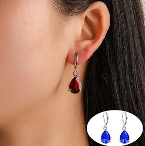 Crystal Rhinestone Long Drop Dangle Stud Hoop Earrings Diamante Bridal Wedding