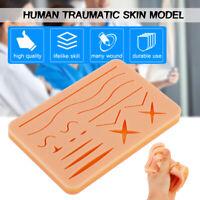 Medical Suture Training Kit Human Traumatic Skin Model Suturing Practice Model